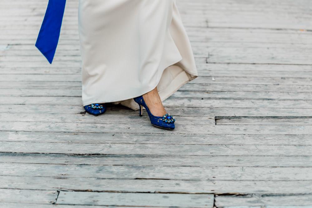 scarpe blu sposa
