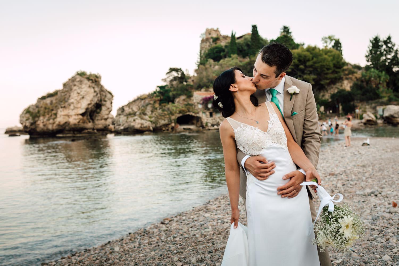 Matrimonio Spiaggia Rito Civile : Fotografo matrimonio taormina isola bella rito civile in