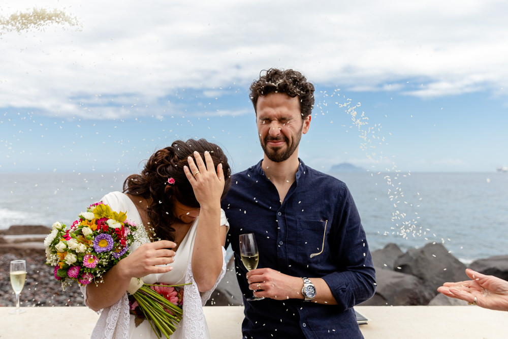 matrimonio a Salina isole Eolie